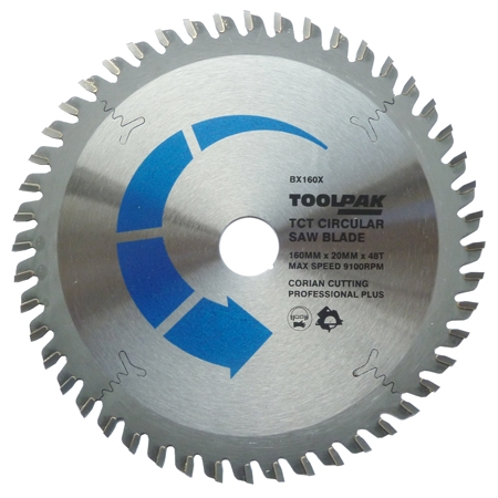 Corian Cutting Saw Blade 160 Mm Abtec4abrasives